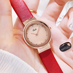 GEDI High-grade Hot Sale Simplicity Dial Exquisite Leather Strap Waterproof Quartz Ladies Watch
