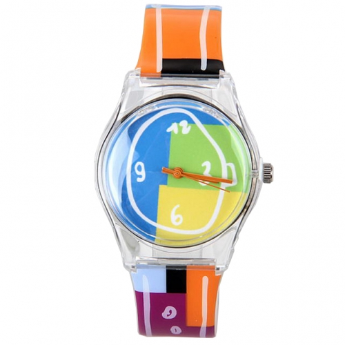 WL Colorful Girlish Series Cartoon Pattern Band Colorful Dial Hot Sale Waterproof Quartz Kids Watch