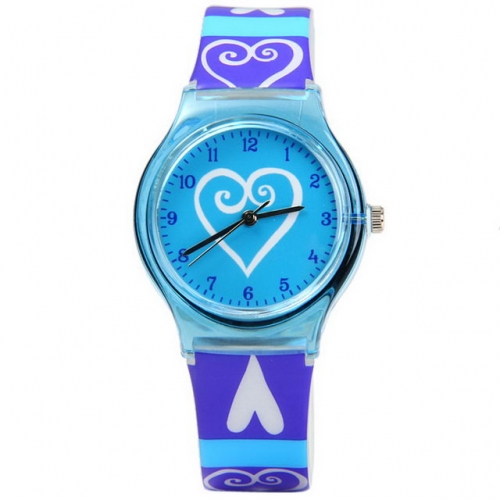 WL Lovely Colorful Fashion Pattern Girlish Series Korean Style Dial Hot Sale Waterproof Quartz Kids Watch