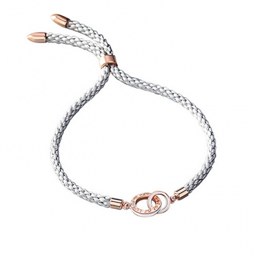 925 Sterling Silver Bracelet Double Ring Couple Bracelet Interlocking Braided Hand Rope Creative Letter Jewelry Gift Pretty Cheap Jewelry