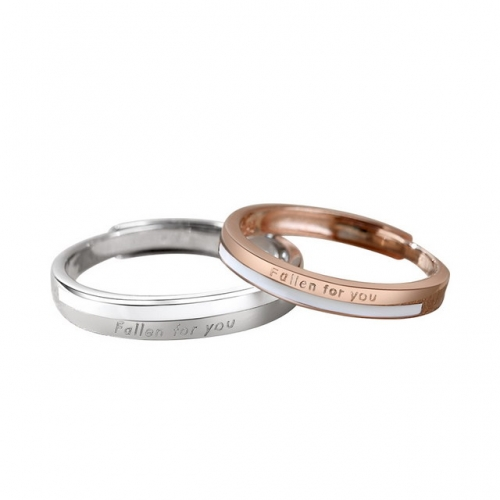 925 Sterling Silver Ring Couple Ring Rose Gold Plain Ring Letter Pair Ring 520 Gift Best Websites To Buy Wholesale Jewerly