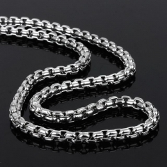New Fashion Korean Style Aggressive Men'S Thick Chain Titanium Steel Necklace Stainless Steel Square Necklaces